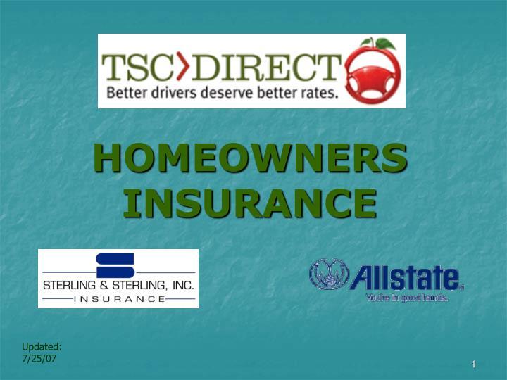 homeowners insurance n.