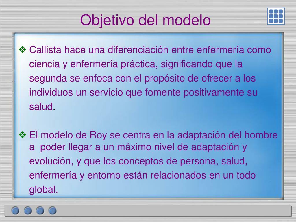 Objetivo del modelo