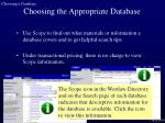 choosing the appropriate database