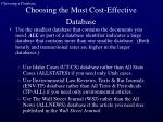 choosing the most cost effective database23