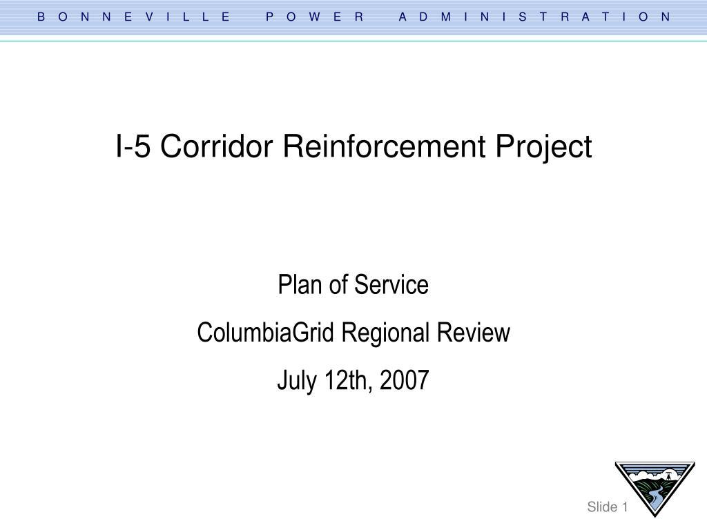 i 5 corridor reinforcement project l.