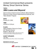 united commercial bank presents money smart seminar series