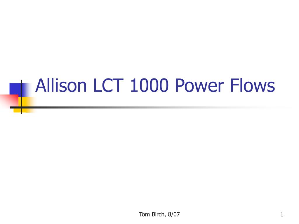 allison lct 1000 power flows l.