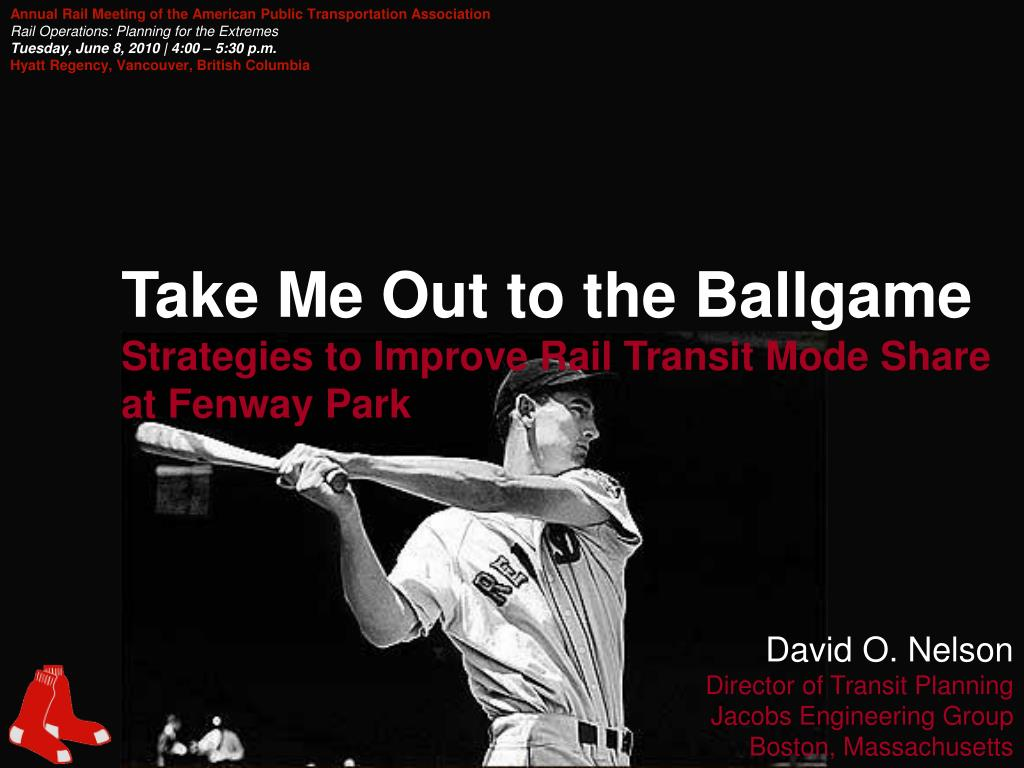 take me out to the ballgame strategies to improve rail transit mode share at fenway park l.