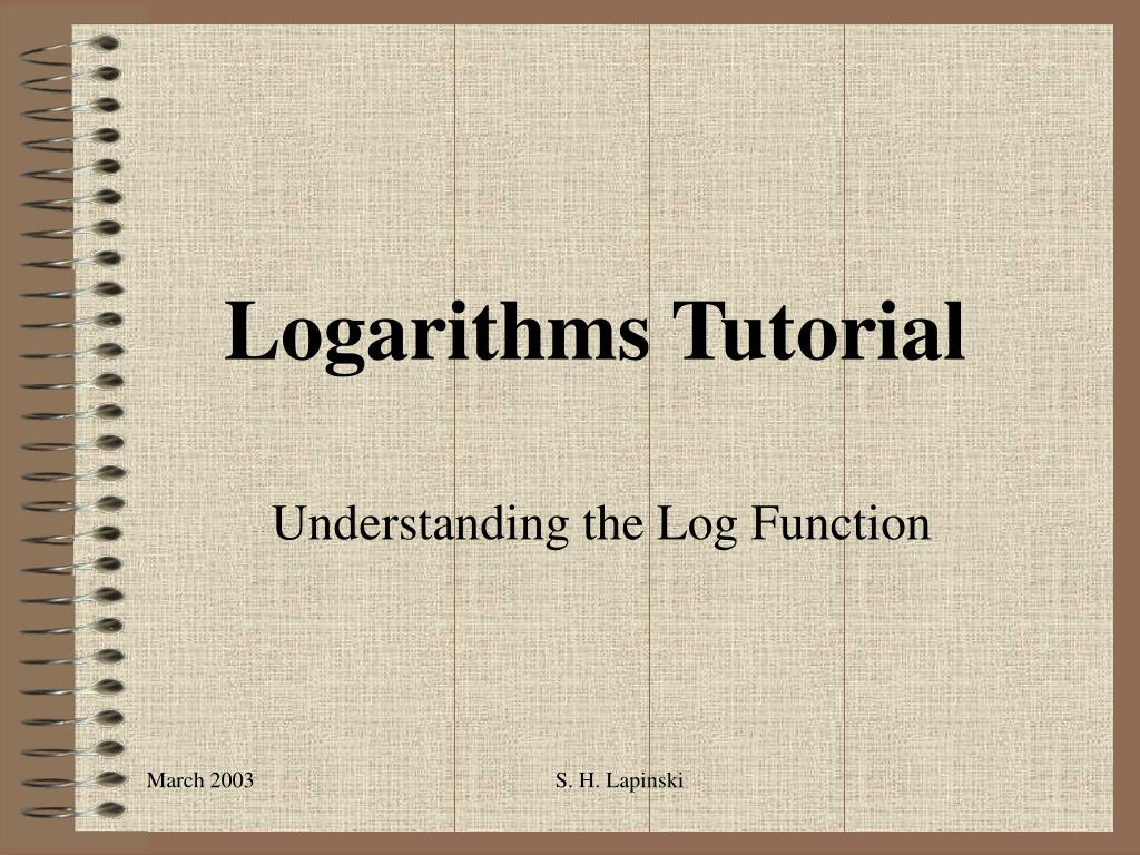 logarithms tutorial l.