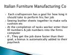 italian furniture manufacturing co