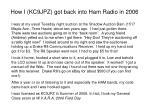how i kc9jpz got back into ham radio in 2006