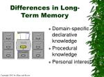 differences in long term memory