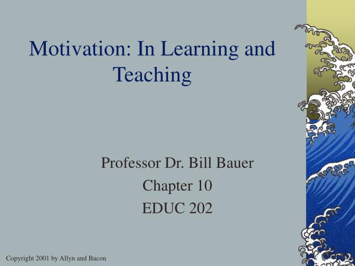 motivation in learning and teaching n.