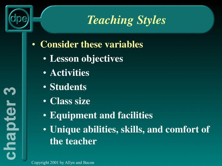 teaching styles n.