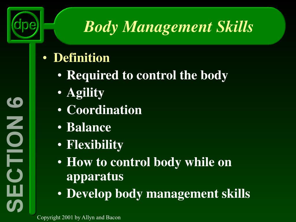body management skills l.
