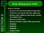 body management skills2