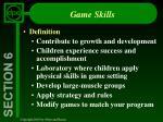 game skills