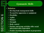 gymnastic skills