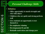 personal challenge skills
