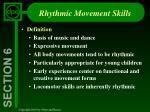 rhythmic movement skills