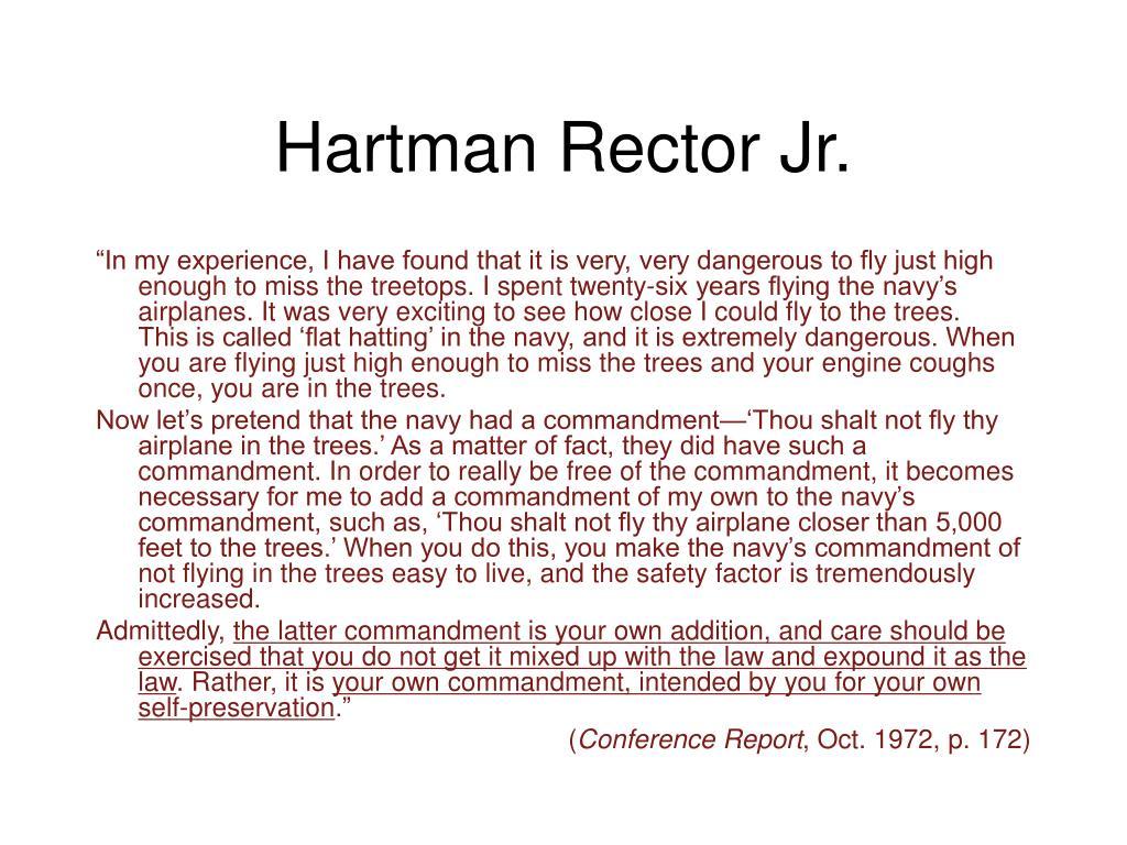 hartman rector jr l.