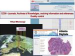 ecm journals archives of knowledges evolving information and references quality control