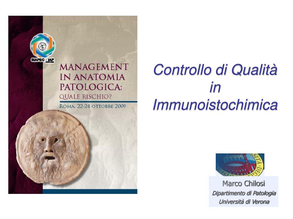 Controllo di Qualità in Immunoistochimica