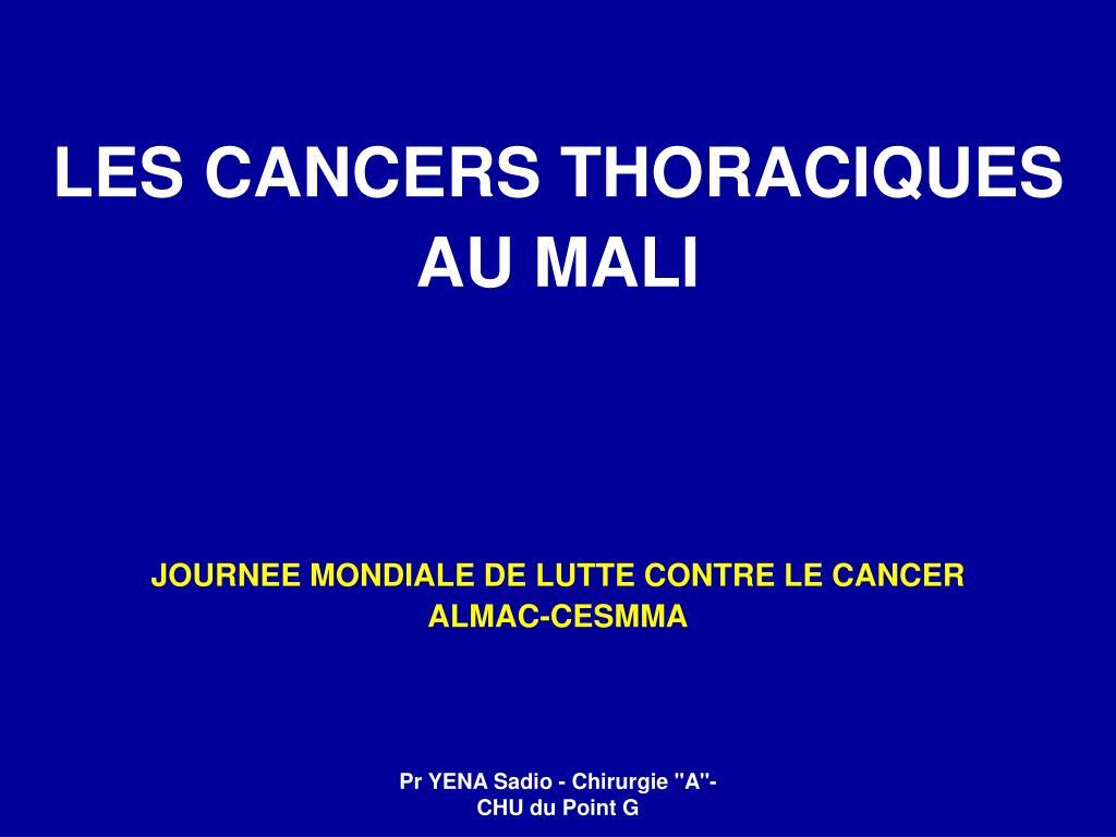 les cancers thoraciques au mali l.