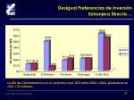 desigual preferencias de inversi n extranjera directa