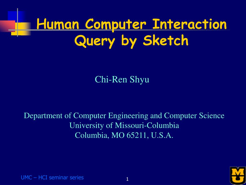 human computer interaction query by sketch l.