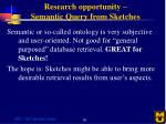 research opportunity semantic query from sketches