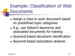 example classification of web documents