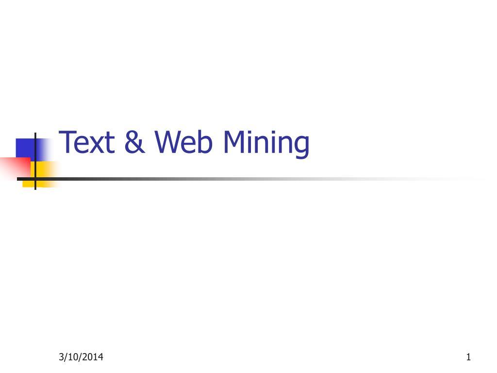 text web mining l.