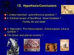 13 hypothesis conclusions