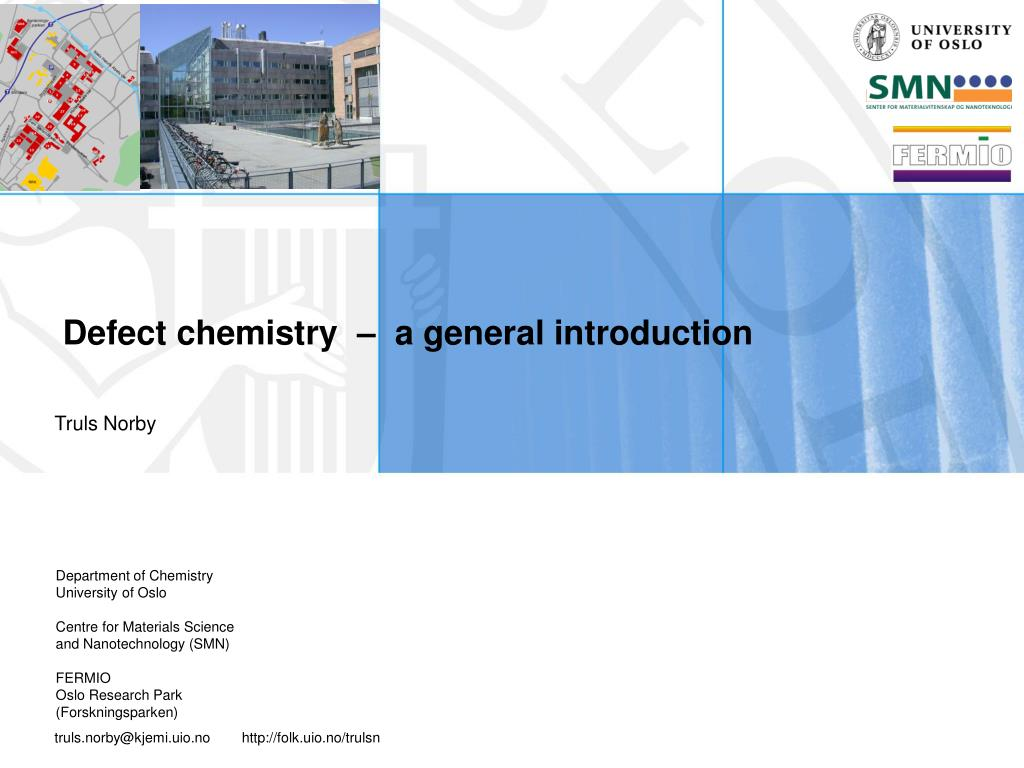 defect chemistry a general introduction l.