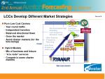 lccs develop different market strategies