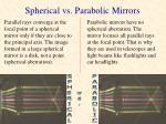spherical vs parabolic mirrors