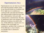 supernumerary arcs