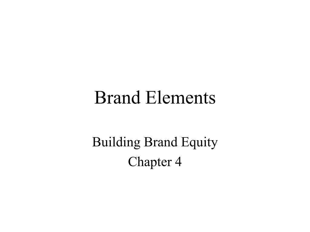 brand elements l.