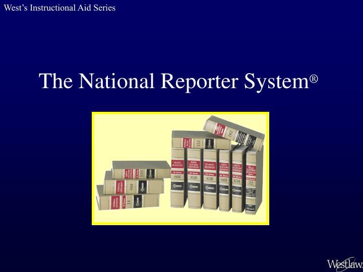 the national reporter system n.