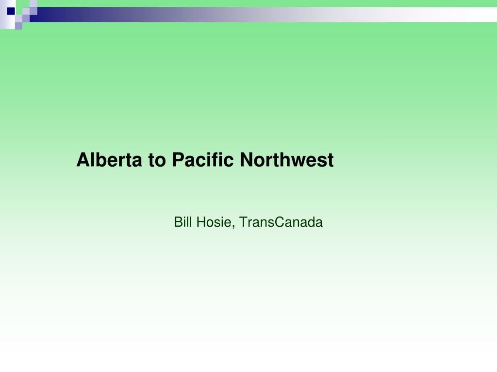 Alberta to Pacific Northwest