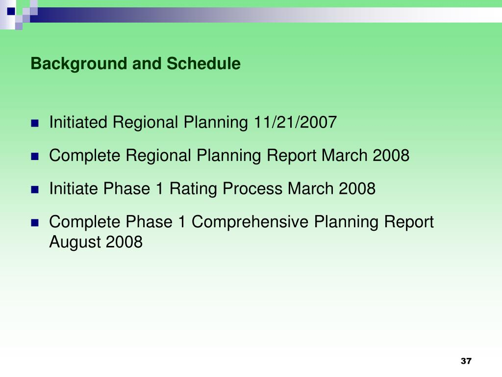 Background and Schedule