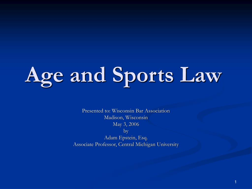 age and sports law l.
