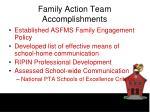 family action team accomplishments
