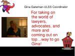 gina gateman ulss coordinator