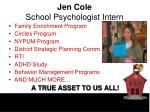 jen cole school psychologist intern