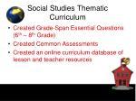 social studies thematic curriculum