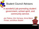 student council advisors