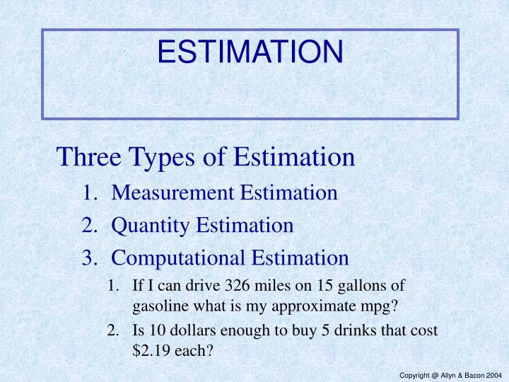estimation n.