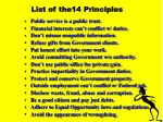 list of the14 principles