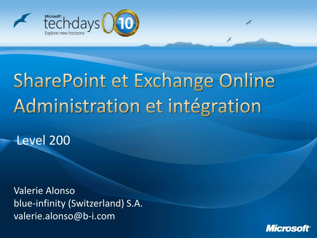 sharepoint et exchange online administration et int gration l.