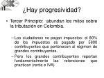 hay progresividad