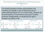 mecanismo de la reacci n de un alcohol primario con hbr s n 2