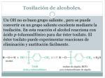 tosilaci n de alcoholes